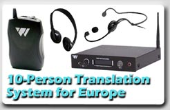 10-Person Translation System for Europe