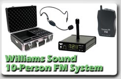 Williams Sound 10-Person FM System